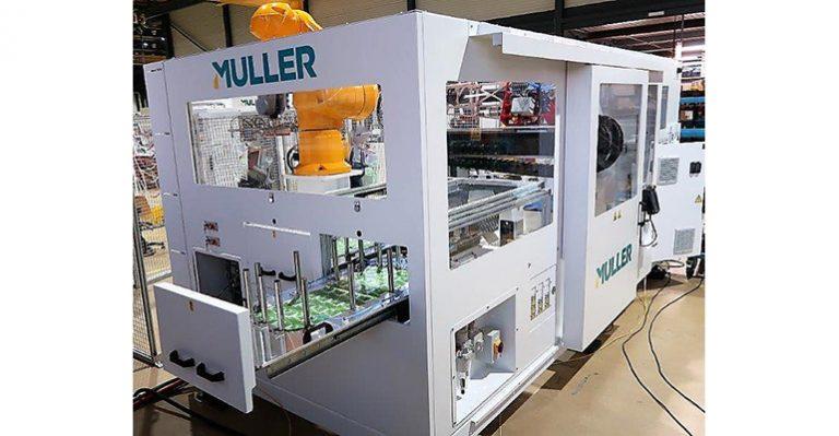 Muller lance un système d'automatisation d'étiquetage dans le moule pour les seaux de cinq gallons